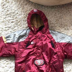 NFL 49er Kids Winter Jacket pullover